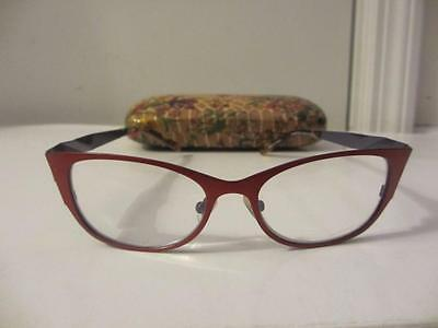 Womens J F Rey Red/brown Rectangle Priscriptioned Reading Glasses