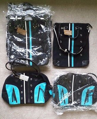 Wholesale Lot (10 Pcs.) Tokyo Bay Black Canvas Crossbody & Overnight/Travel Bags