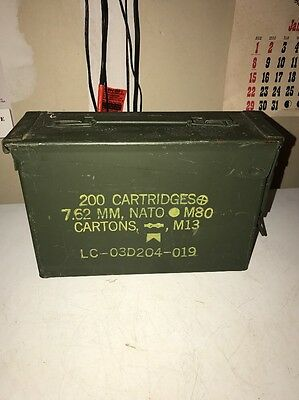 Vintage Military Surplus GP&F Ammo Can 200 Cartridges 7.62 MM NATO M82 Free Ship