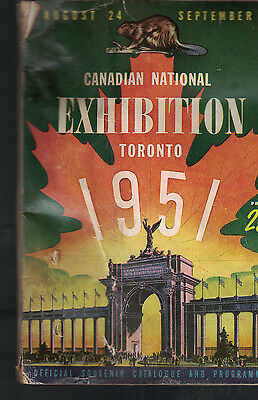 Canadian National Exhibition 1951 Souvenir Catalog & Program Toronto