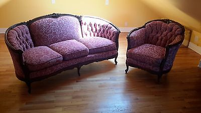 antique victorian sofa and armchair in great condition