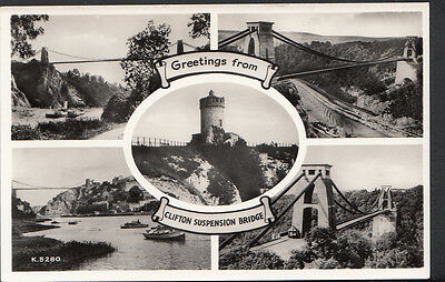 Bristol Postcard - Greetings From Clifton Suspension Bridge  BH1157