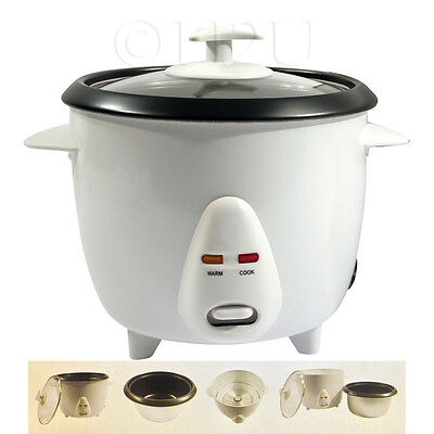 0.8L NON STICK ELECTRIC AUTOMATIC RICE COOKER POT WARMER WARM COOK Cup Spatula