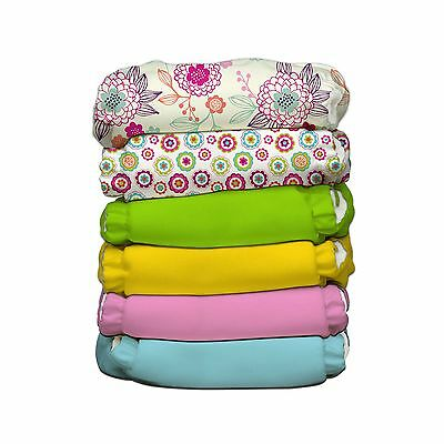 Charlie Banana 6 Diapers 12 Inserts Organic Dreamy One Size New