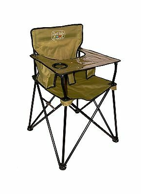 ciao! Baby Portable High Chair Sage with Carrying Case New