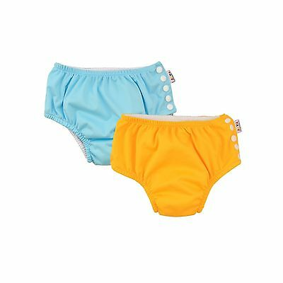 ALVABABY Swim Diapers Reuseable Washable & Adjustable 2 PCS One Size Sets... New
