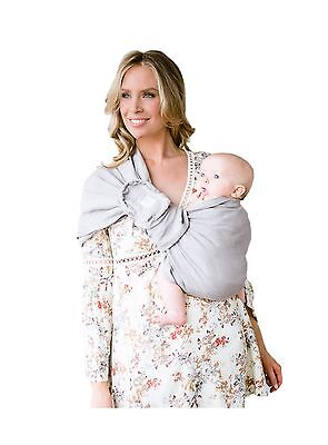 LILLEbaby Ring Sling w/ Removable Pocket - Silver Straw Grey Silver Straw... New