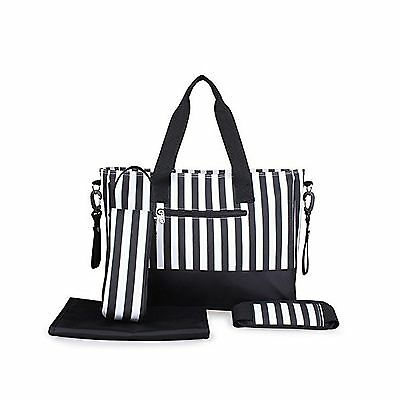 Newtion Fashion Stripe Designer Baby Diaper Nappy Changing Bag Waterproof... New