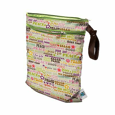 Planet Wise Wet/Dry Bag Think Peace New