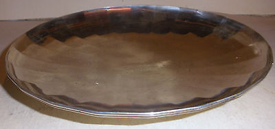 Rare Antique Art Deco Tiffany co makers sterling silver compote tray 9 1/8""