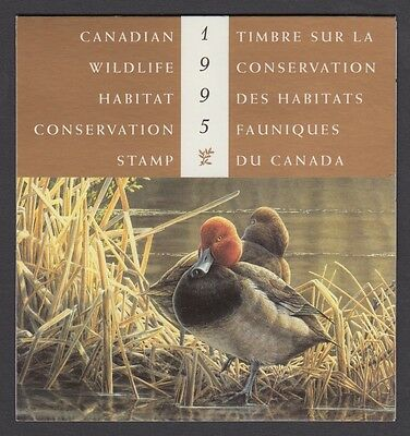 Fwh11 1995 Redheads By Pierre Leduc, Federal Wildlife Conservation & Stamp