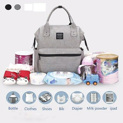 AU Fashion Nappy Mummy Backpack Diaper Bags Baby Newborn Tote Shoulder Bag-GR