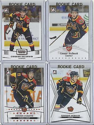 (Lot of 4) 14-15 Connor McDavid ITG Leaf Pre Rookie Card RC Mint (Erie Otters)