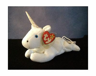 Ty Beanie Babies - Mystic the Unicorn with Iridescent Horn New