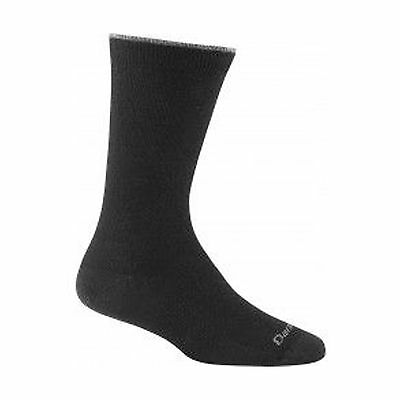 Darn Tough Vermont Women's Solid Crew Light Cushion Hiking Socks Black Me... New