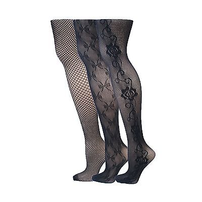 kilofly Sheer Patterned Pantyhose Value Pack - Set of 3 Assorted Designs New