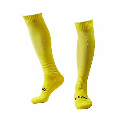 Panegy Mens Yellow Football Trainer Athletic Socks Over-the Calf Socks Co... New