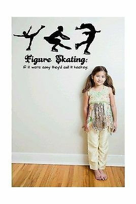 """Design with Vinyl - CA 2015 BS 185 """"Figure Skating If It Were Easy They'd... New"""