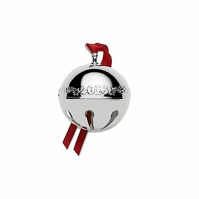 Wallace 2016 Silver Plated Sleigh Bell Ornament 46th Edition New