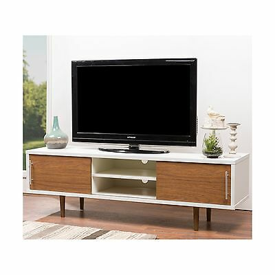 Baxton Studio Gemini Wood Contemporary TV Stand White New
