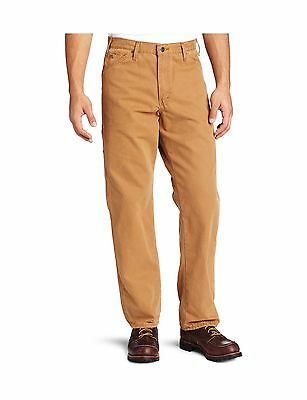 Dickies Men's Relaxed Fit Utility Sanded Duck Pant Brown Duck 42W x 32L New
