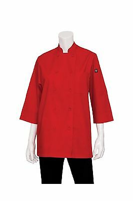 Chef Works Men's Essential 3/4 Sleeve Chef Coat (JLCL) 2XL New
