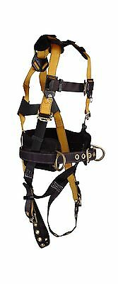 FallTech 7035S Journeyman Full Body Polyester Harness with 3 D-Rings and ... New