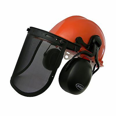 LASER Chainsaw Safety Helmet With Adjustable Ear Muffs Providing You With... New