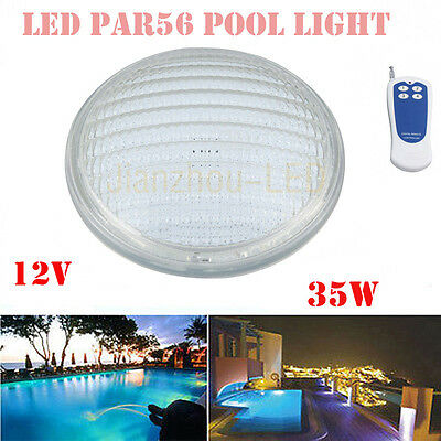 35W PAR56 DIP RGB Remote LED Swimming Pool Underwater Lamp Light with 501led 12V