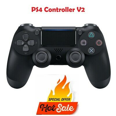 Genuine Sony PS4 Playstation 4 Controller DualShock Wireless V2 Jet Black