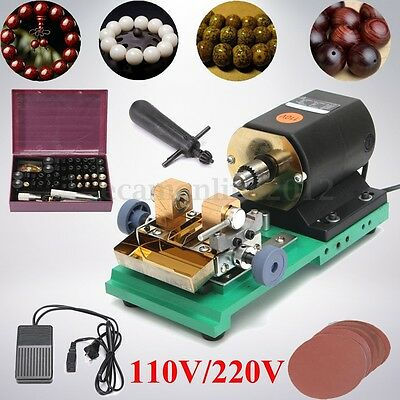 220V 380W Pearl Drilling Holing Machine Beads Driller Full Set Jewelry Tool NEW