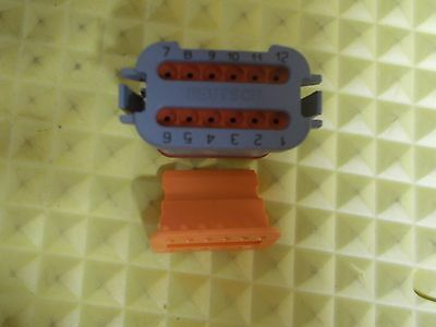 Deutsch DT06-12SA w/E003 Mod & W12S Key12pin Rectangular Plug Connector