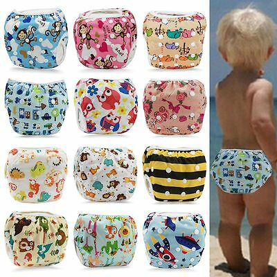 Baby Swim Nappy Diaper Reusable Washable Boy Girl Toddler Swimming Adjustable