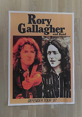 "Poster ""Rory Gallagher and Band"", Defender Tour 1987"