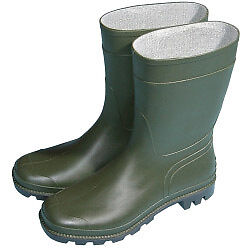 Town & Country Essentials Half Length Wellington Boots Green - All Size -Unisex