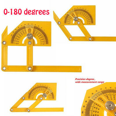 0-180 Degrees Angle Engineer Protractor Finder Measure Arm Ruler Gauge Tools New