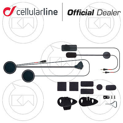 Kit Microfono Auricolari Interfono Cellular Line F5 Offroad Casco Jet/Integrale