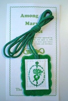 The Green Scapular - Badge of the Immaculate Heart of Mary Catholic Gifts