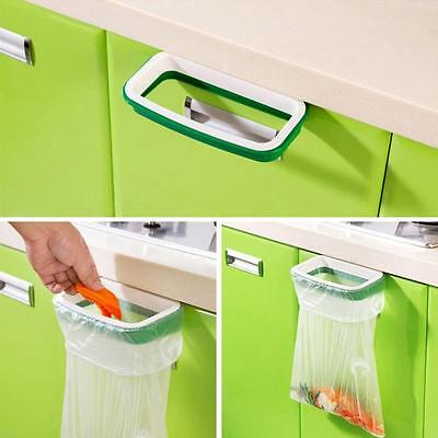 Hanging Kitchen Cabinet Door Trash Rack Style Storage Garbage Bags Holder Hanger