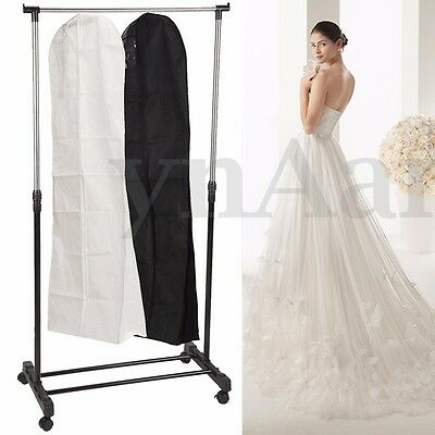 Breathable  Bridal Gown Dust Cover Garment Clothes Storage Zip Bag Wedding Dress