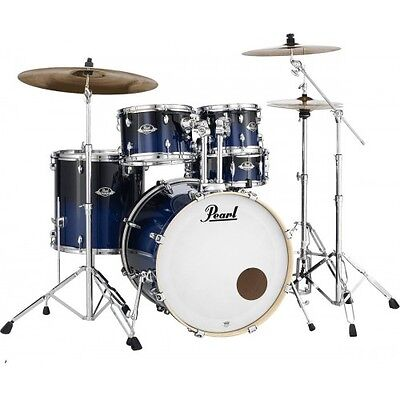 Batterie Pearl Export Laquer Rock 22'' 5 futs Sea Blue Fade