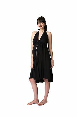 Pretty Pushers Cotton Jersey Labor Gown Black One Size New