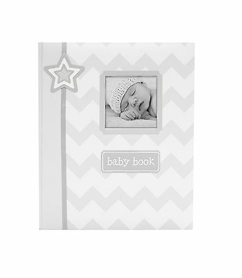 Lil' Peach Chevron Babybook Gray New