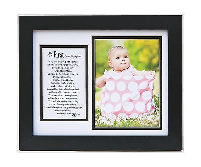 The Grandparent Gift Frame Wall Decor First Granddaughter New
