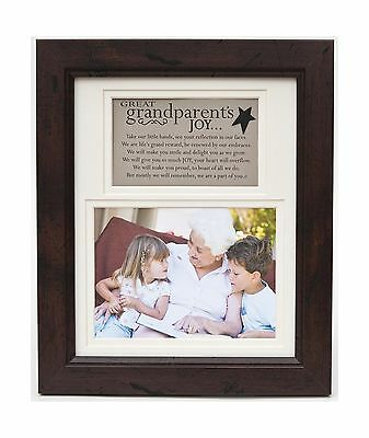 The Grandparent Gift Frame Wall Decor Great-Grandparent's Joy New