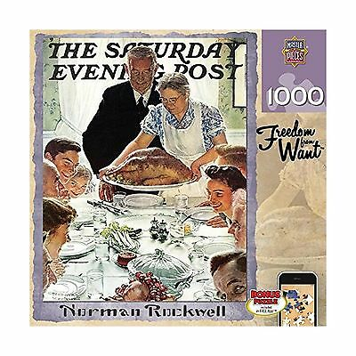 Masterpieces Saturday Evening Post Norman Rockwell Freedom from Want Jigs... New