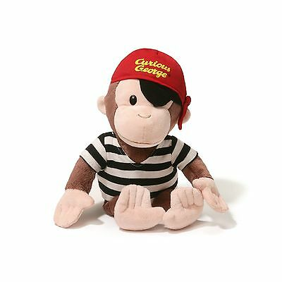"Gund 4056998.0 Curious George 13"" Pirate New"