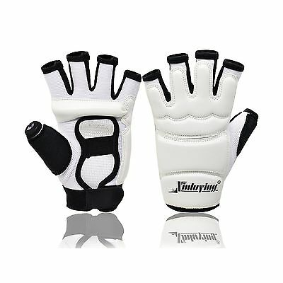 MCTi Women Men Kickboxing Sparring Taekwondo Hand Protector Gear Fight Pu... New