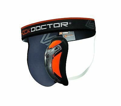 Shock Doctor 329 Men's Ultra Pro Supporter with Ultra Cup Grey Large ADULT New