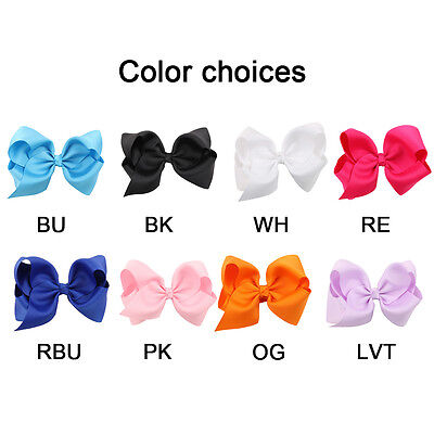 """4.7"""" Knot Grosgrain Ribbon Large Hair Bow With Alligator Clip Girl Boutique 1pcs"""